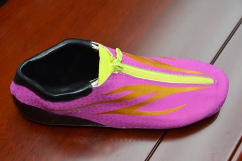 超纤幻彩满天星冰刀鞋皮革