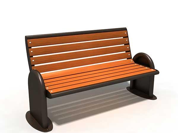 贵阳钢木休闲椅