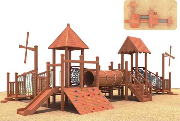 贵州木质组合滑梯