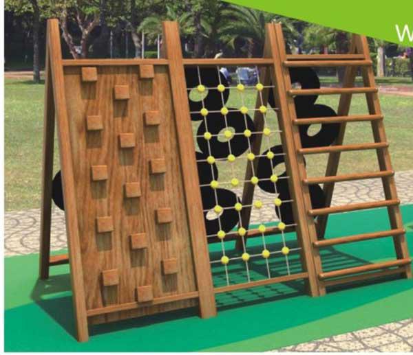 幼儿园木质组合滑梯