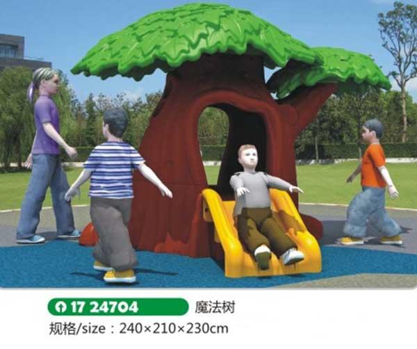 儿童塑料魔法树玩具
