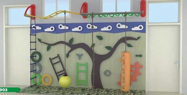 少儿木质组合滑梯