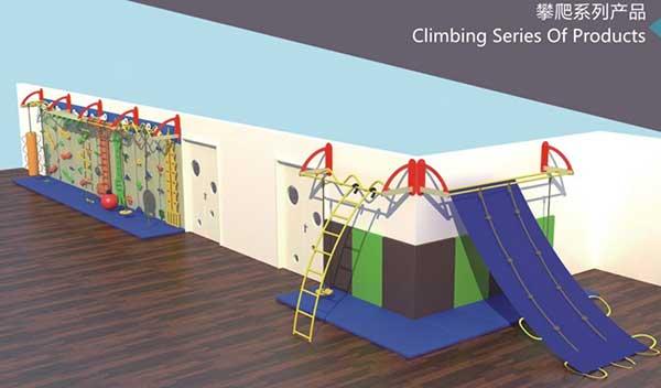 幼儿园木质滑梯