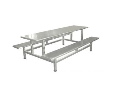 不銹鋼八人座餐桌
