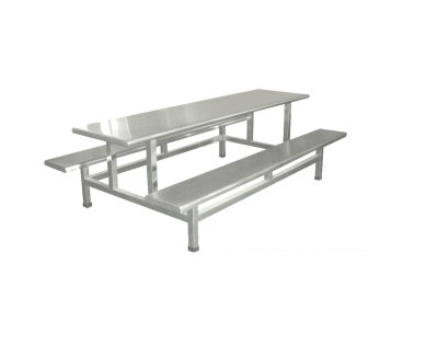 不锈钢八人座餐桌
