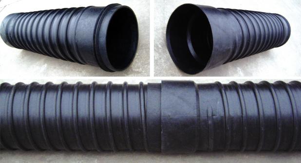 承插式橡胶密封钢带增强聚乙烯(PE)螺旋波纹管