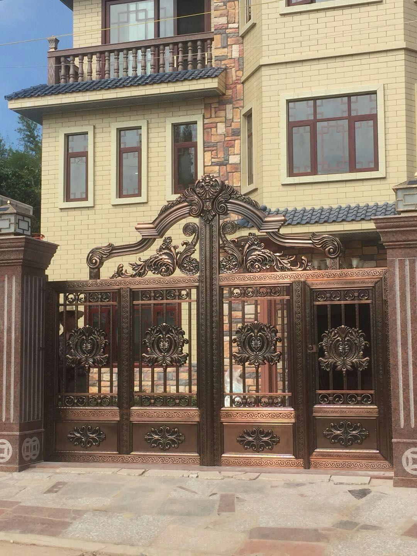 高档红古铜不锈钢庭院大门