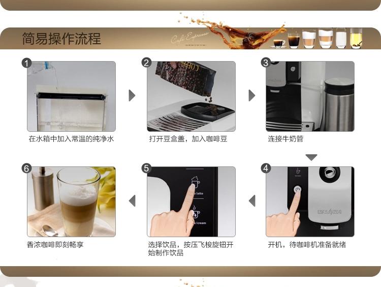 咖乐美KLM1601-W意式商用全自动咖啡机