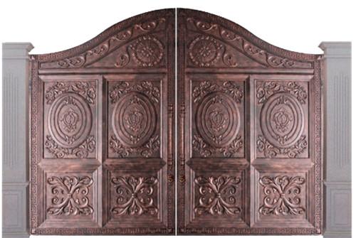 别墅庭院铜门