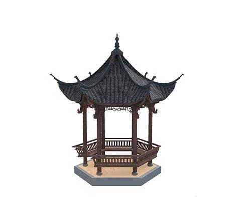 木结构凉亭