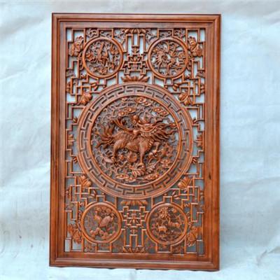 中式木雕屏风