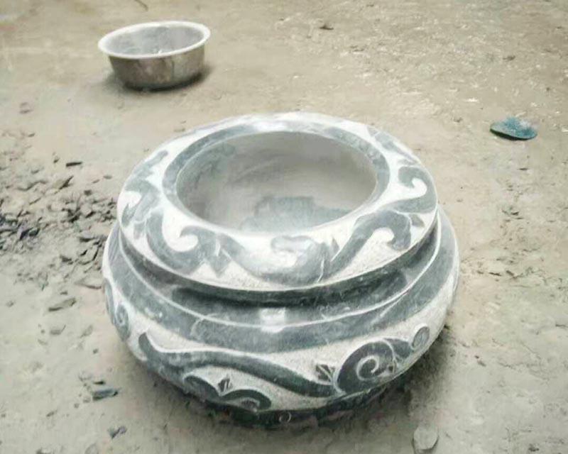 天津石雕盆