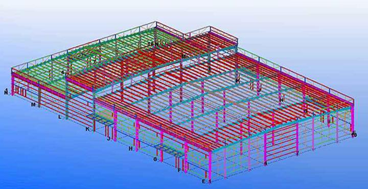 成都钢结构详图设计