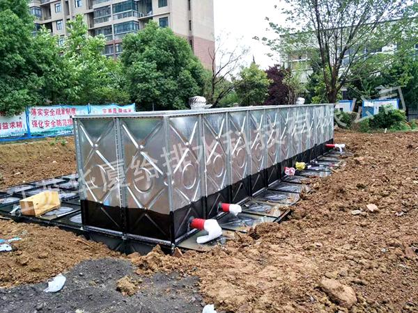安装地埋式箱泵水箱