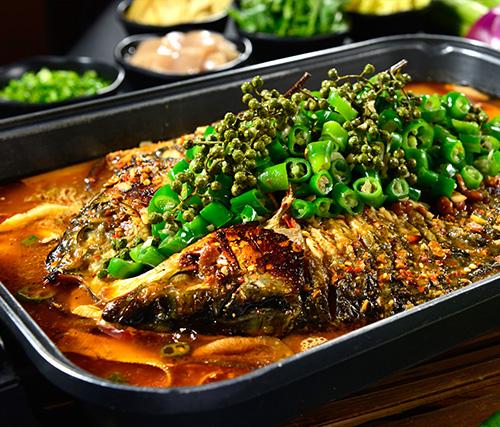 鲜麻鲜椒烤鱼