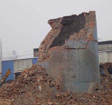 砖瓦厂烟囱拆除