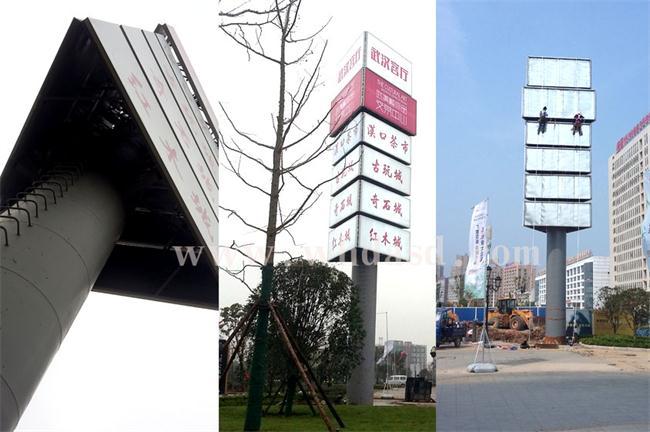 武汉单立柱广告牌制作