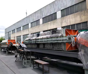 皮带输送污泥压滤机应用于光伏行业