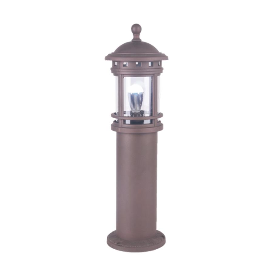 公园柱形褐色LED草坪灯