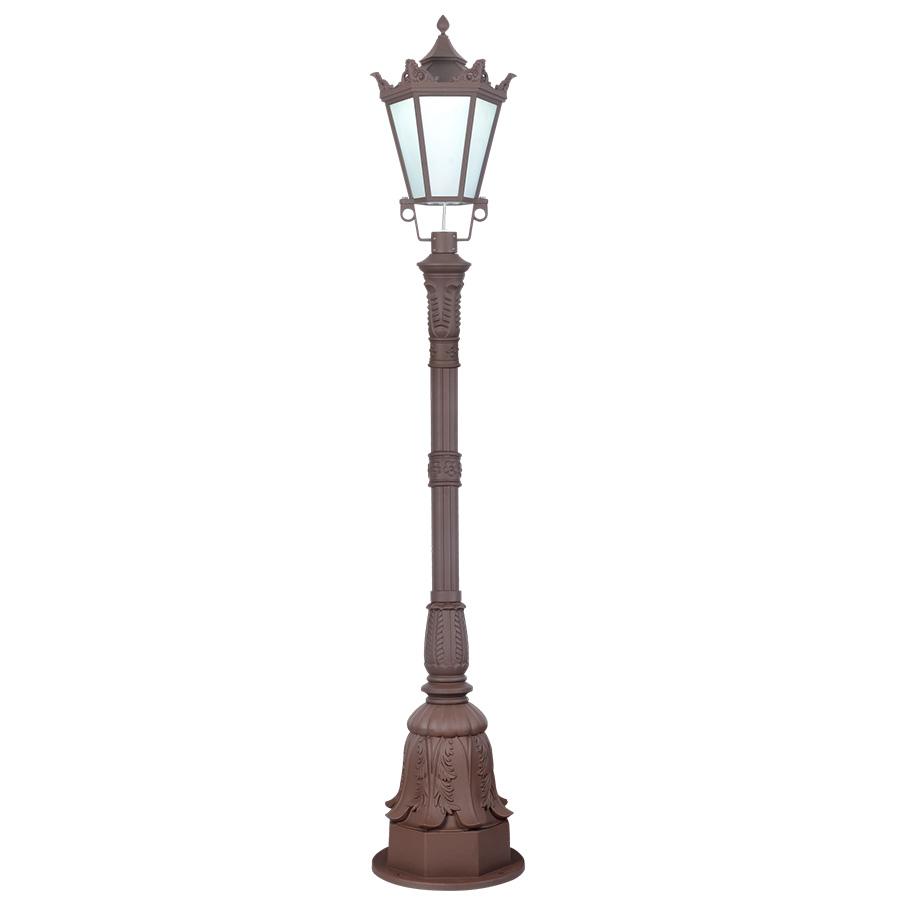 冠形褐色现代庭院灯