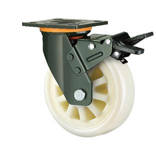 重型活动双刹双轴尼龙轮