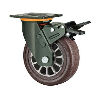 重型活动双刹双轴TPR轮