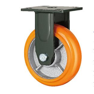 重型固定双轴铁芯PU轮