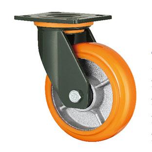 重型活动双轴铁芯PU轮