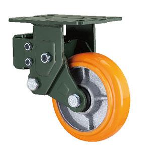 减震型固定铁芯PU轮