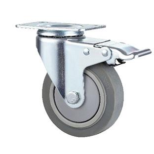 中型活动双刹双轴TPR轮