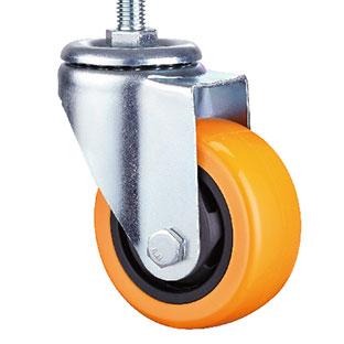 中型丝杆活动双轴橙色通花PU轮