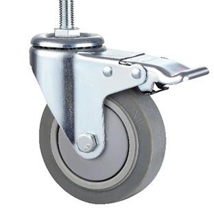 中型丝杆活动双刹双轴TPR轮
