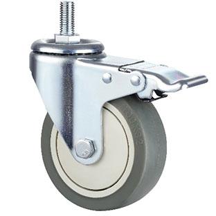 中型丝杆活动双刹单轴TPR轮