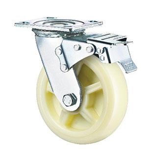 重型活动双刹双轴PP轮