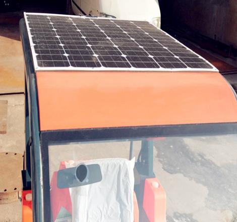 太阳能扫地机