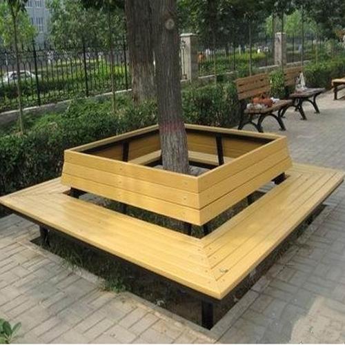 方形防腐木围椅