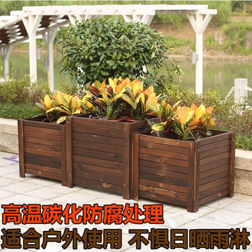 昆明绿化防腐木花箱