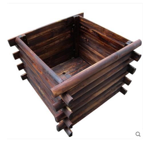 防腐木条花箱