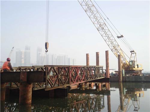 湖北钢栈桥施工