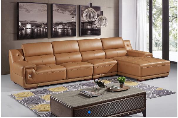 欧式风格皮沙发