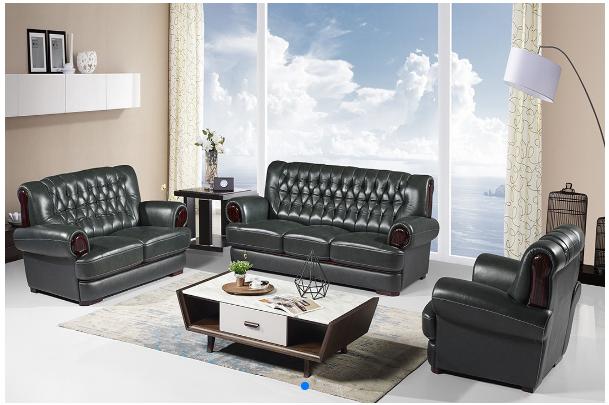 中式皮沙发