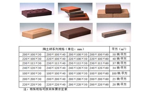 陶土广场砖规格