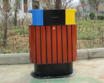 龙里钢木垃圾桶