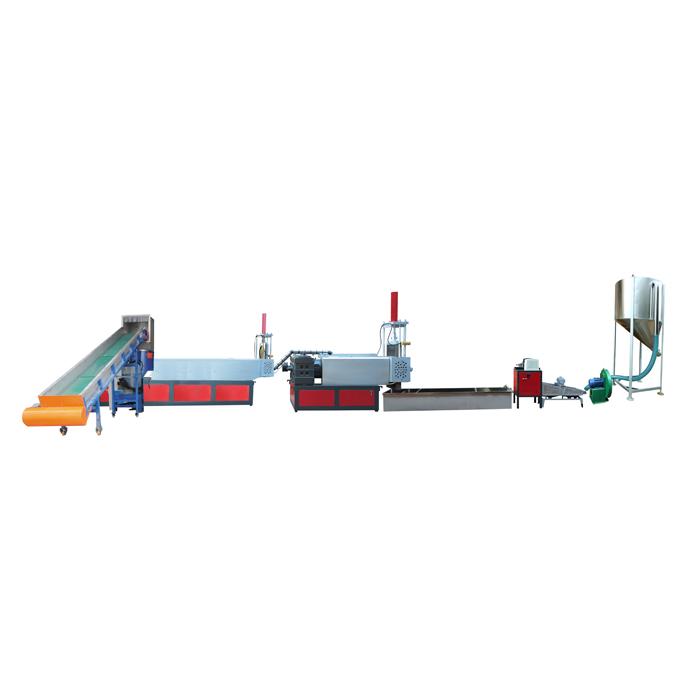 两阶干膜自动上料排气型挤出造粒机组