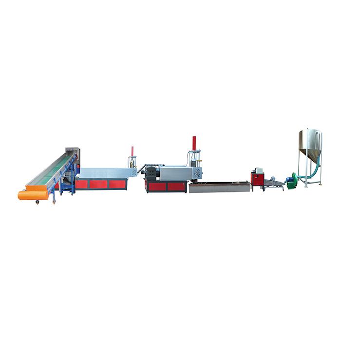 兩階干膜自動上料排氣型擠出造粒機組