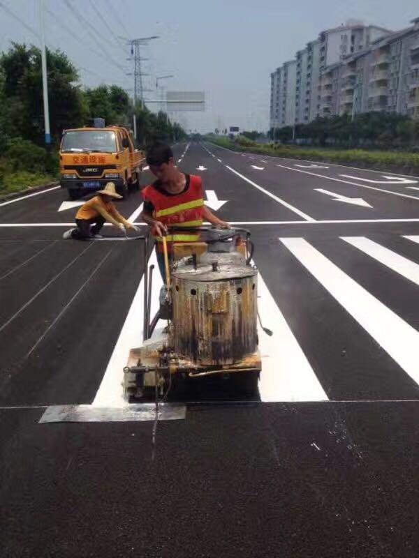 武汉路面划线施工