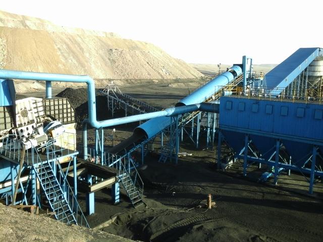 油页岩筛分破碎系统