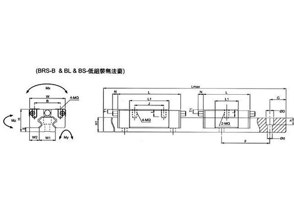 BRS-B/BL/BS低组装无法兰尺寸2