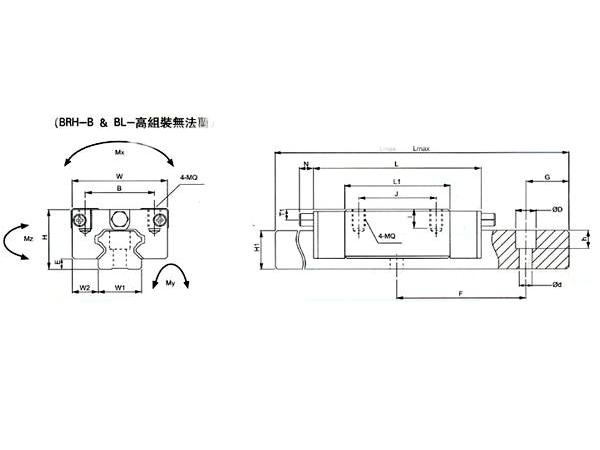 BRH-B/BL-高组装无法兰尺寸1