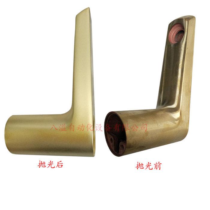 铜水龙头抛光效果对比